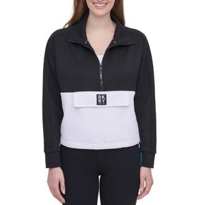 DKNY Quarter Zip Athletic Pullover Jacket